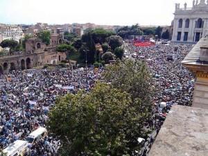 un milione in piazza