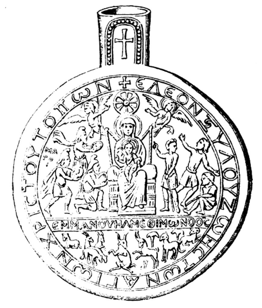 Fig. 3 - I magi; ampolla di Monza